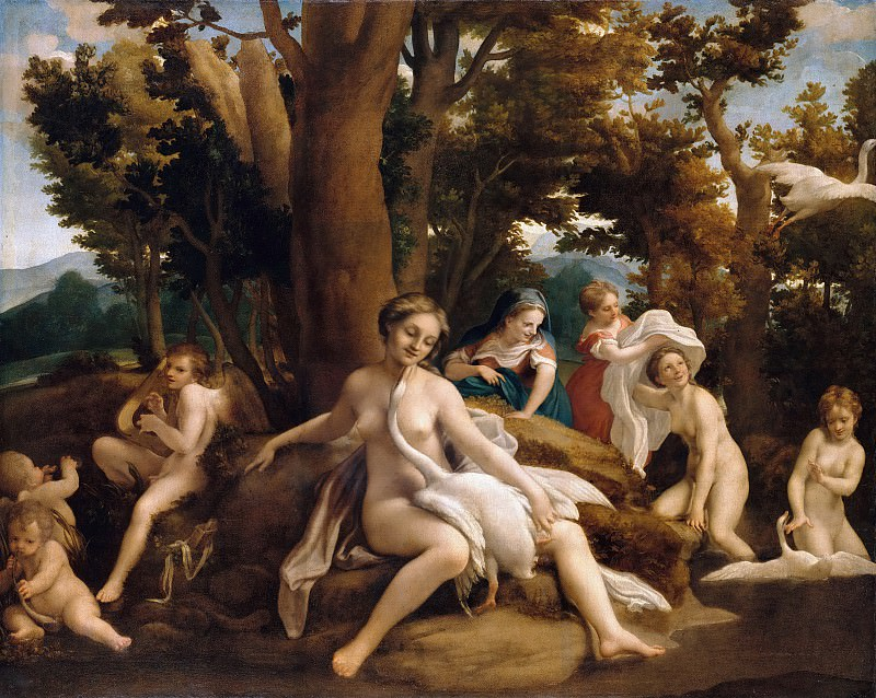 Correggio (c.1490-1534) - Leda and the Swan. Part 1