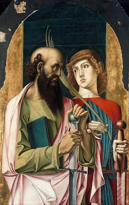 Alvise Vivarini (1446-1502) - The Saints Paul and Victor. Part 1