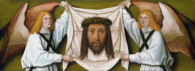 Bartholomaus Zeitblom (1455-60-1518-22) - The Sudarium of Saint Veronica held two angels. Part 1