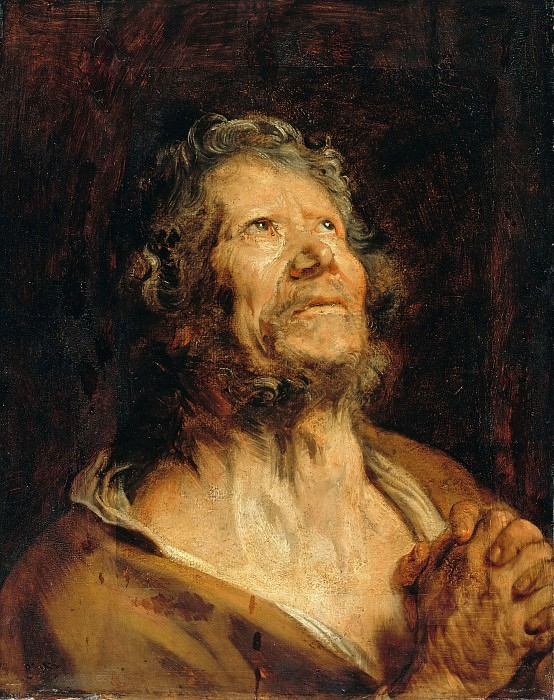 Anton Van Dyck (1599-1641) - Apostle with folded hands. Part 1