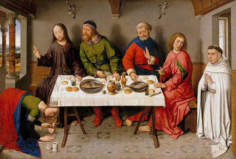 Dierick Bouts (c.1415-1475) - Christ in the House of Simon. Part 1