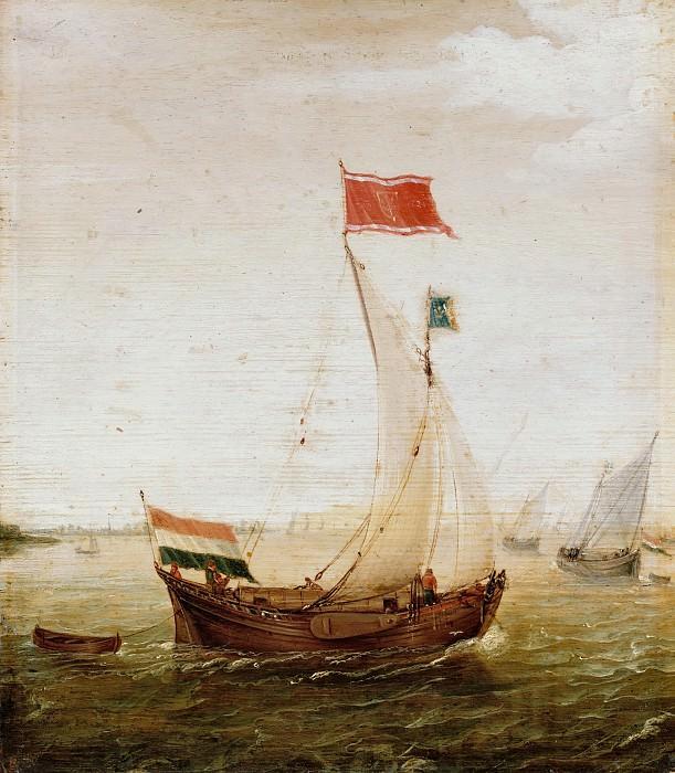 Aert Anthonisz (1580-1620) - Seascape with sailboats. Part 1