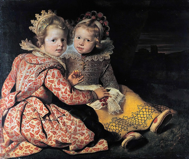 Cornelis de Vos (1584-1651) - Magdalena and Jean-Baptist de Vos, the children of the painter. Part 1