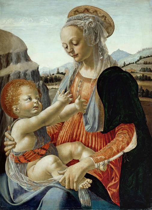 Andrea del Verrocchio (1436-1488) - Mary with the Child. Part 1