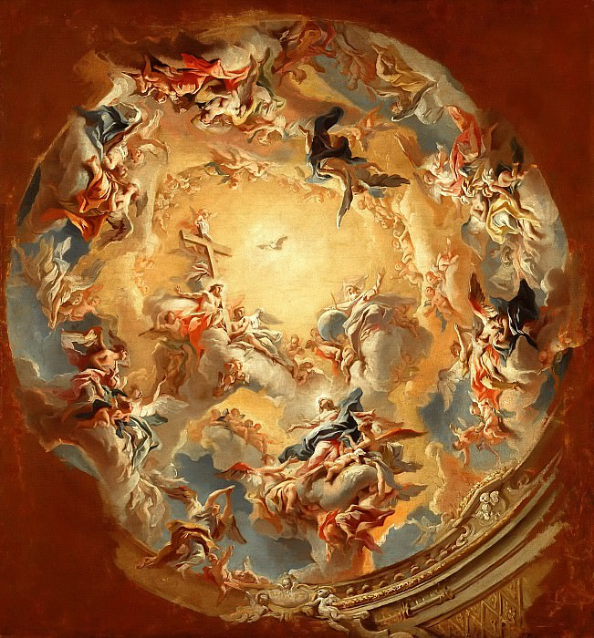 Carlo Carlone (1686-1775) - The Assumption of the Virgin. Part 1