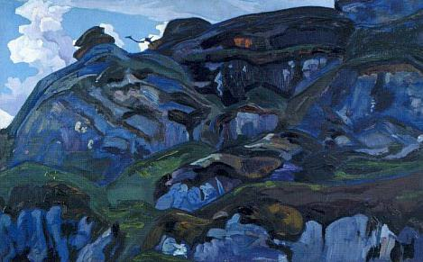 Cliffs and rocks. Roerich N.K. (Part 2)