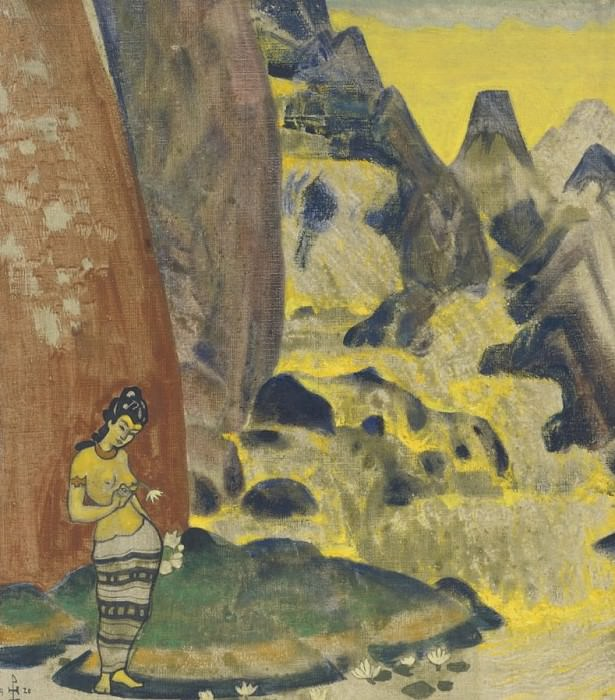Sound of the waterfall (panel design) # 5. Roerich N.K. (Part 2)