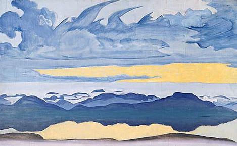 Horseman sunset. Thumbnail # 34 (Knight pm). Roerich N.K. (Part 2)