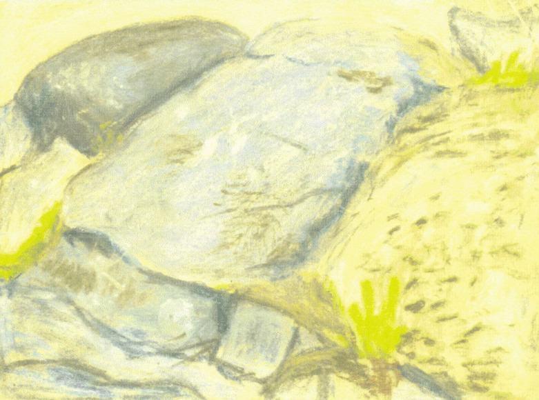 Голубая протока (Камни на берегу ?). Рерих Н.К. (Часть 2)