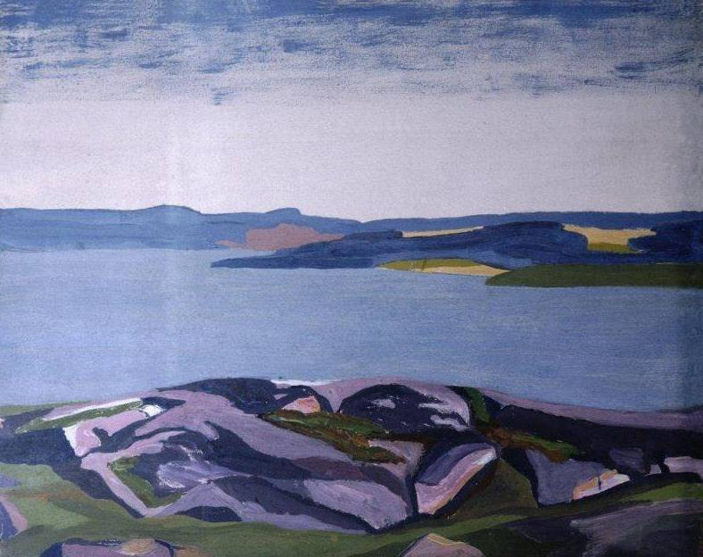 Горное озеро. Финский ландшафт (Этюд. Набросок к картине). Рерих Н.К. (Часть 2)