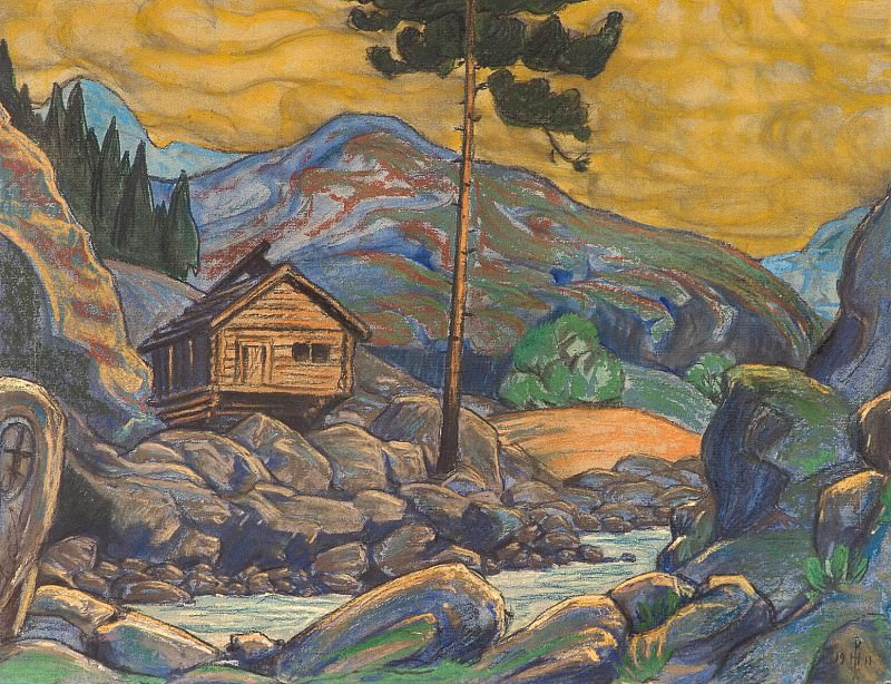 Hut in the mountains. Roerich N.K. (Part 2)