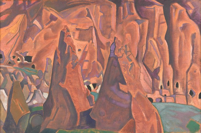 Caves in the rocks. NM. Roerich N.K. (Part 2)