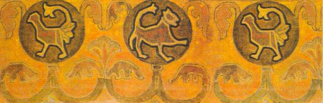 Ornamental frieze (Panel). Roerich N.K. (Part 2)