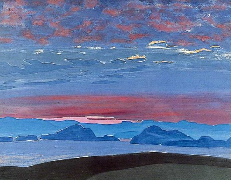 Northern sunset. Roerich N.K. (Part 2)