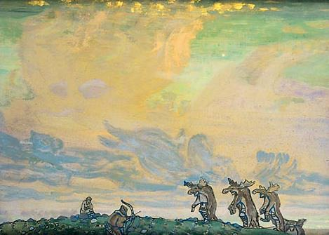Great sacrifice (2nd version). Roerich N.K. (Part 2)