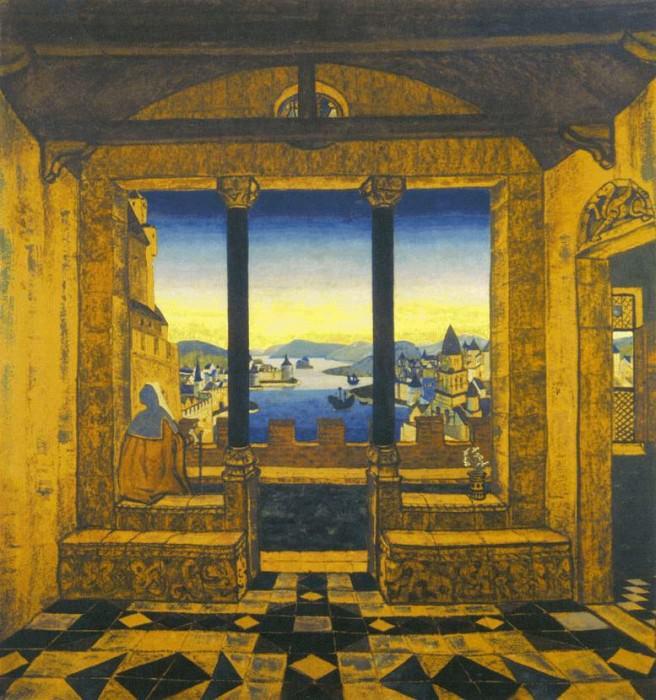 Courtyard of the castle (Castle). Roerich N.K. (Part 2)