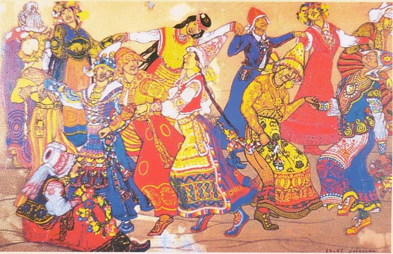 Runaround (Dance girls). Roerich N.K. (Part 2)