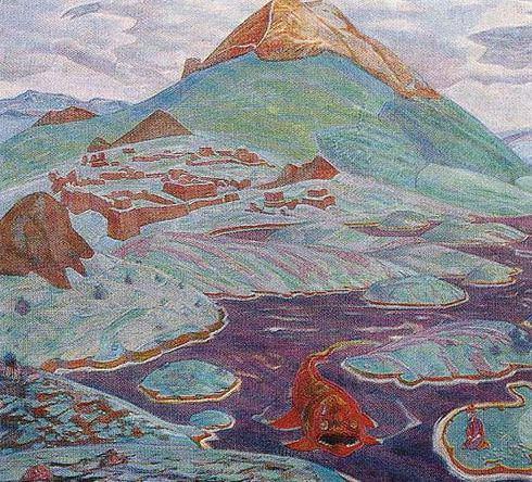 Manu Wisdom (Fantastic landscape). Roerich N.K. (Part 2)