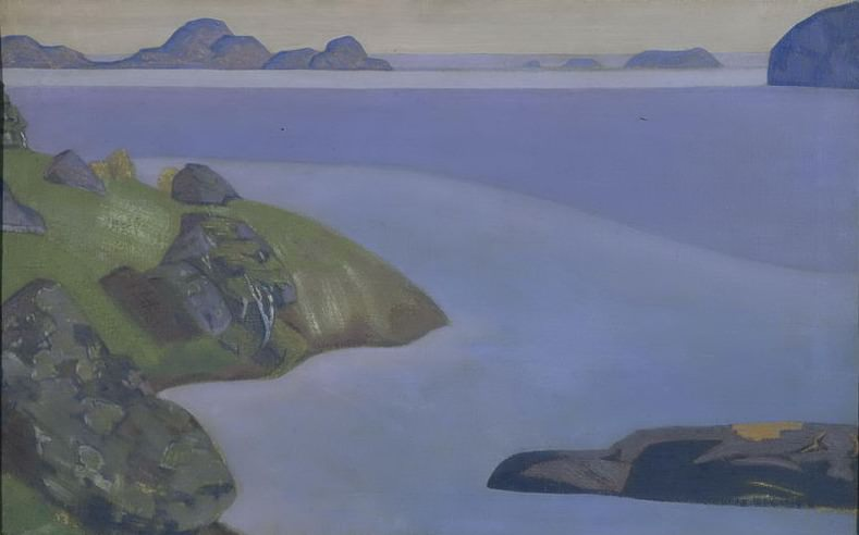 Rocky sea shore. Roerich N.K. (Part 2)