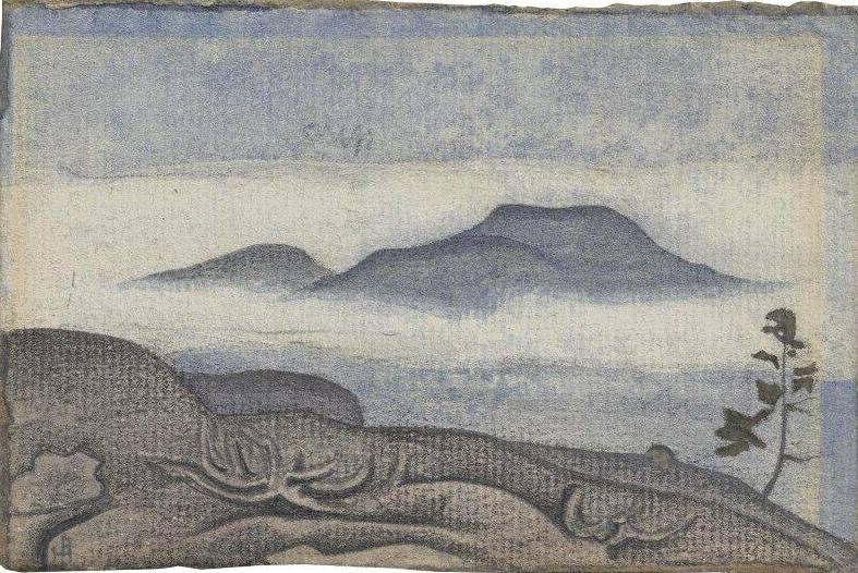 Голубое озеро в горах (Эскиз к картине «Сокровище» 1919 года). Рерих Н.К. (Часть 2)