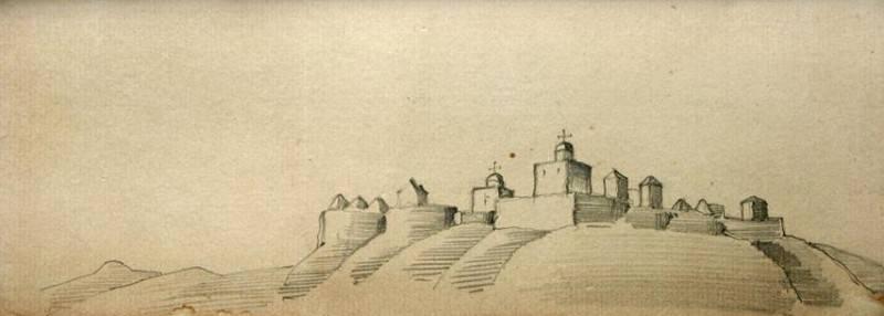 Town ( Convent hills). Roerich N.K. (Part 2)