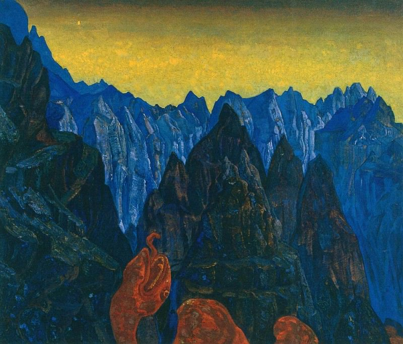 Creek serpent. Roerich N.K. (Part 2)