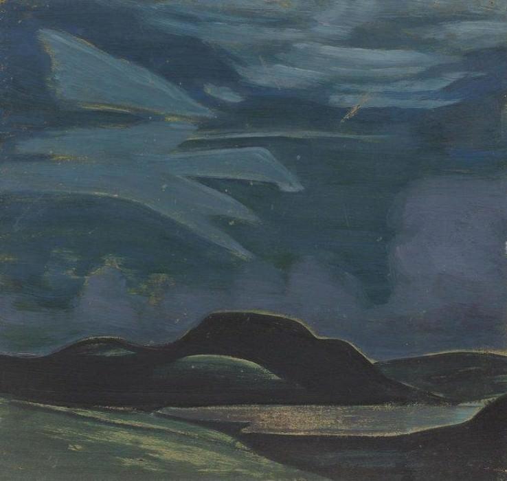 Knight overnight (sketch). Roerich N.K. (Part 2)
