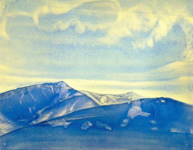 Mountain landscape. Roerich N.K. (Part 2)