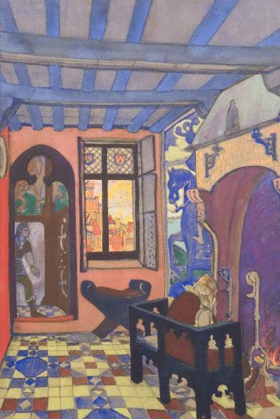 King room Gialmara (Act III, scene 1). Roerich N.K. (Part 2)