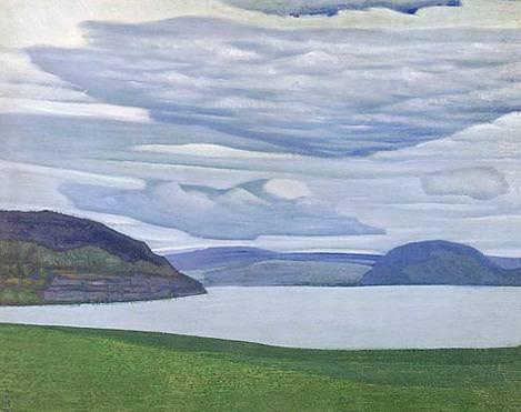 Blue Island (Karelian landscape). Roerich N.K. (Part 2)