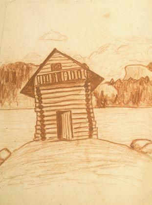 Hut (sketch). Roerich N.K. (Part 2)