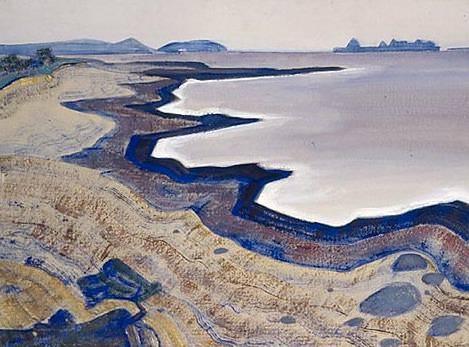Karelian landscape (Lake). Roerich N.K. (Part 2)