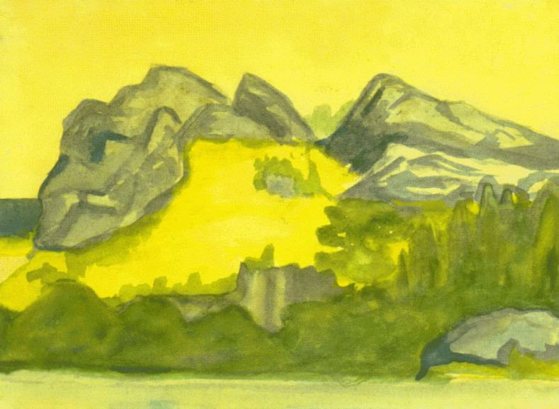 Coastal cliffs. Roerich N.K. (Part 2)