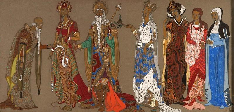 Sketch of costume. Roerich N.K. (Part 2)