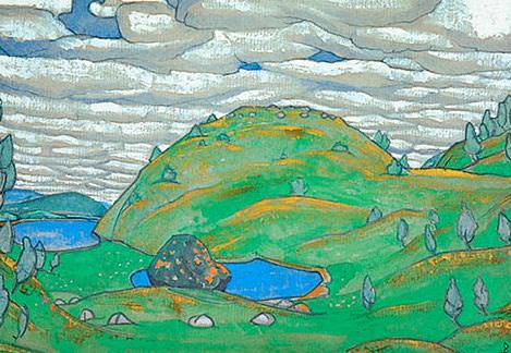 Kiss the Earth. Third option. Study. Roerich N.K. (Part 2)