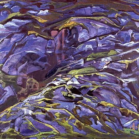 Карельский пейзаж (Скалы. Тулола). Рерих Н.К. (Часть 2)
