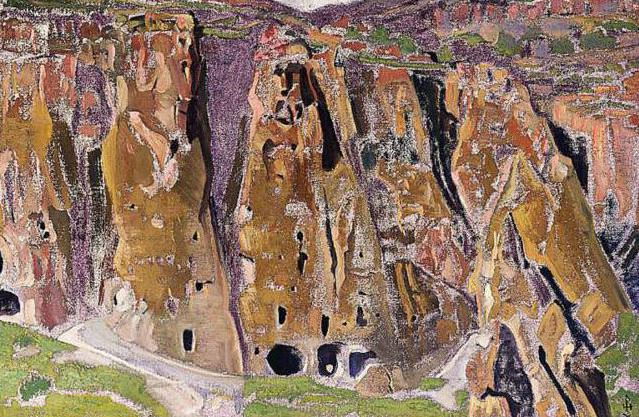 Caves in the rocks (Cliff Dwellings). Roerich N.K. (Part 2)