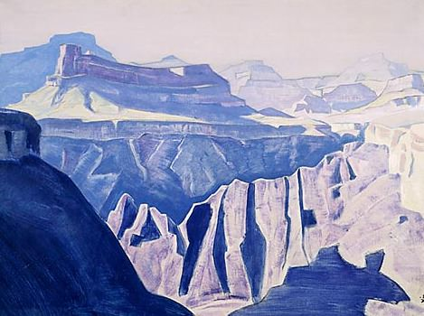 Blue temples (the Grand Canyon. Arizona) (2). Roerich N.K. (Part 2)