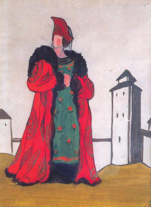 Boyarynya in red. Roerich N.K. (Part 2)