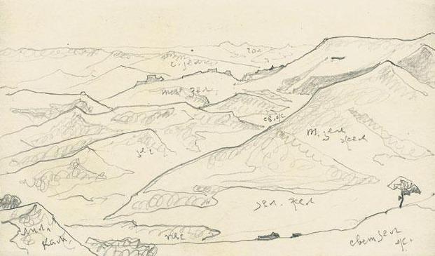 Hilly terrain. Roerich N.K. (Part 2)