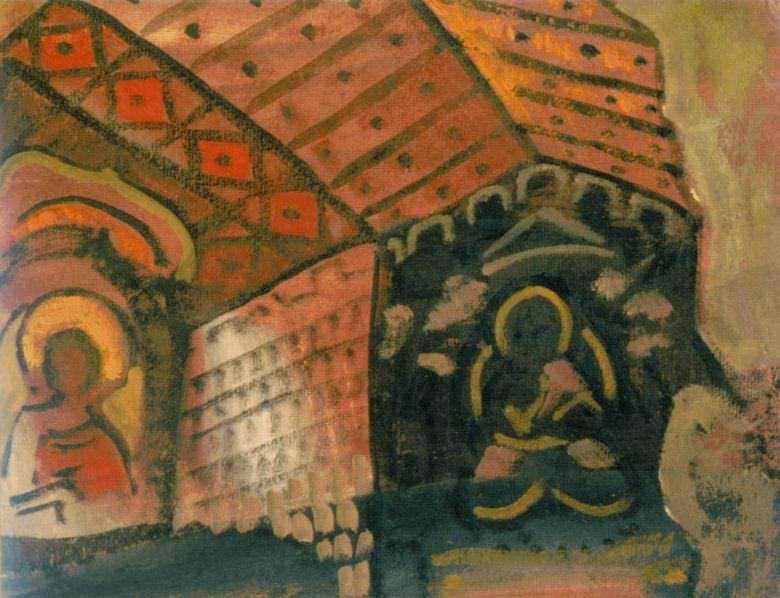 Church interior (sketch). Roerich N.K. (Part 2)