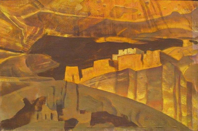 White House Ruins in Canyon de Chelly National Monument (the White House Ruins in Canyon de Shay). Roerich N.K. (Part 2)