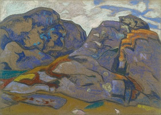 Northern landscape. Sketch. Roerich N.K. (Part 2)