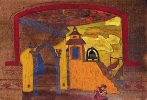 Palace in candies (curtain sketch). Roerich N.K. (Part 2)