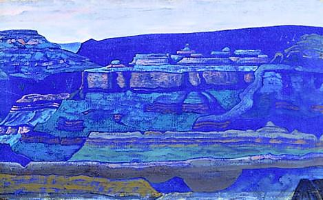 Blue temples (Grand Canyon, AZ) (1). Roerich N.K. (Part 2)