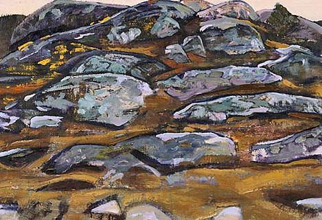 Karelian landscape (7). Roerich N.K. (Part 2)