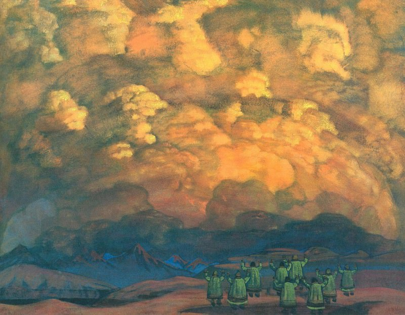 Manifest sky. Roerich N.K. (Part 2)