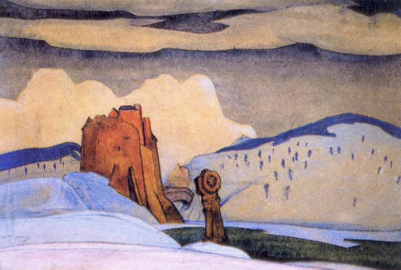 Winter (backstage sketch). Roerich N.K. (Part 2)