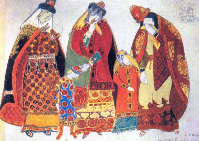 Boyarinya and children. 1st Act. Roerich N.K. (Part 2)
