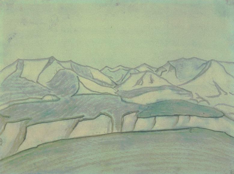 Landscape. Outline. Roerich N.K. (Part 2)